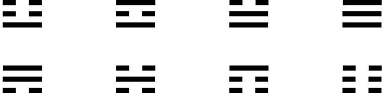 8 Trigram Square-1d-6x1