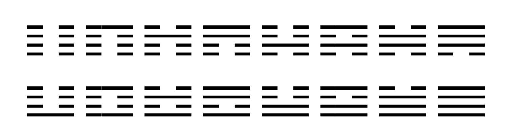 I Ching Square-1d-16x2